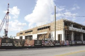 """Construction moves at a rapid pace along Krome Ave for the """"Homestead Station"""" project."""