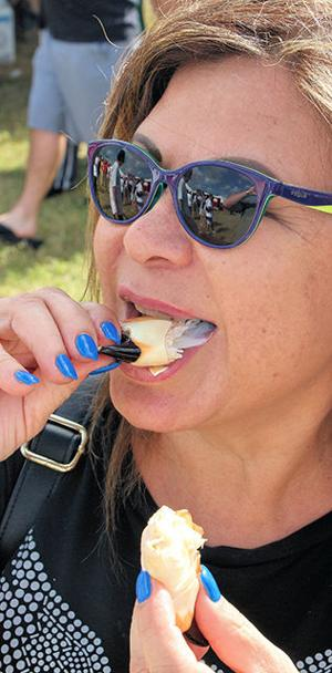 Iris Garcia loved the delicious stone crabs