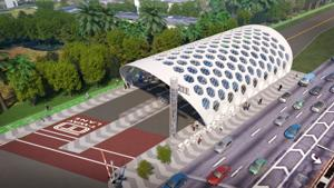 Rendering of the SMART Plan - South Dade TransitWay Corridor