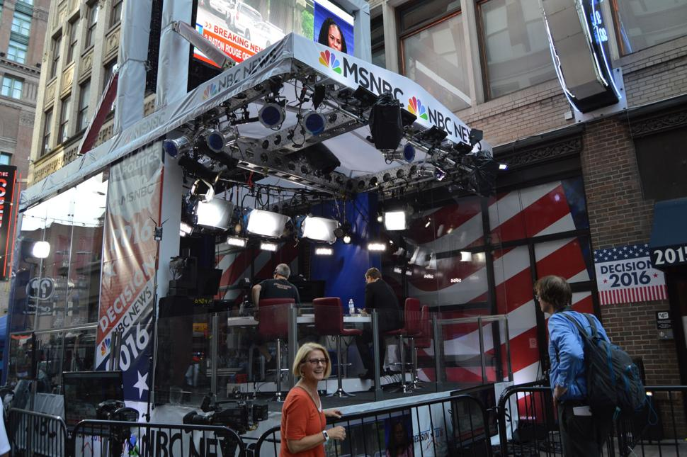 RNC Convention in Cleveland - Media Setup