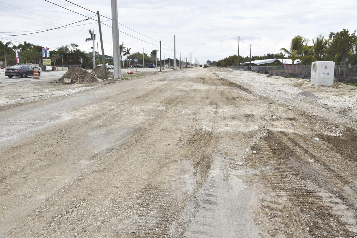 Before - the current construction widening Krome Ave. closer to Homestead