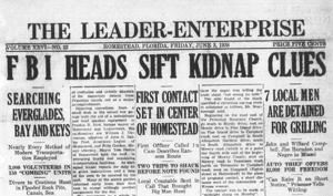 Homestead kidnapping was front page news in 1938.