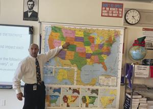 Mr. Michael Gustin, a history teacher at MAST Academy.