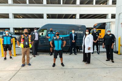 Amazon employees join with health care professionals in donation of $100,000 in PPE.