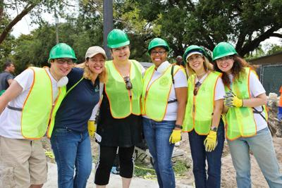 Miami-Dade Conservation Corps coordinator diana Young with volunteers.