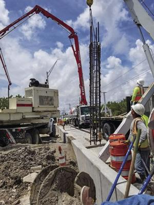 Construction being done on new All-Electronic Tolling System on Card Sound Road in North Key Largo.