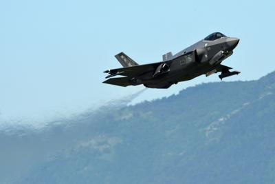 An F-35A Lightning II fighter jet takes off. Air Force Reserve Command officials are  currently evaluating four possible locations for future basing of the F-35A, including Homestead Air Reserve Base.