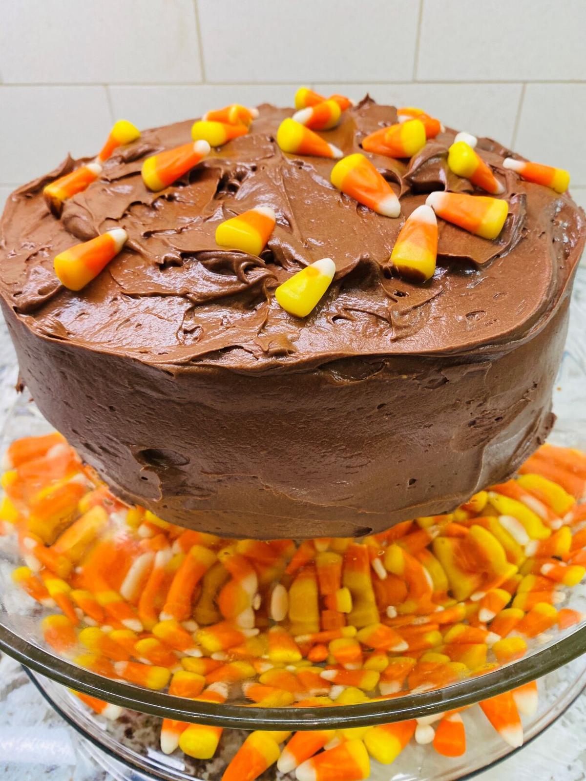 Candy Corn 1-2-3-4 Cake