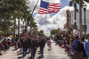 Hundreds gathered along Krome Avenue to honor our Veterans on Monday, Nov. 12th.
