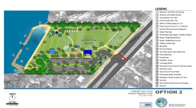 """The conceptual plans for """"Re-imaging Rowell's Waterfront Park"""" were presented at an informal community meeting on Monday in Key Largo."""