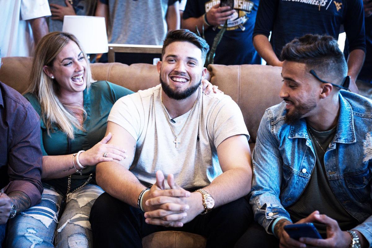 Alek Manoah celebrates with his family