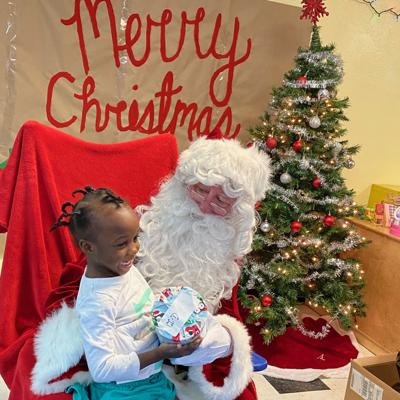 Homestead-Miami Speedway visited PATCHES, and brought Santa Claus along to deliver more than 60 gifts to those at the facility.