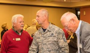Pastor Brock Shiffer, long-time MAC member, Command Chief Master Sergeant Frederick Becking of the 482d Fighter Wing and Brian Reynolds of ESGR talk about the importance of supporting members of the Reserve and National Guard.
