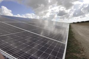 Acres of solar panels at the FPL solar farm in Redland.