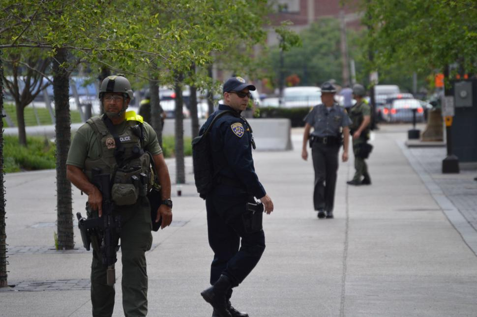 RNC Convention in Cleveland -Cops