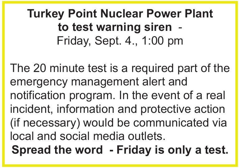 Turkey Point siren test