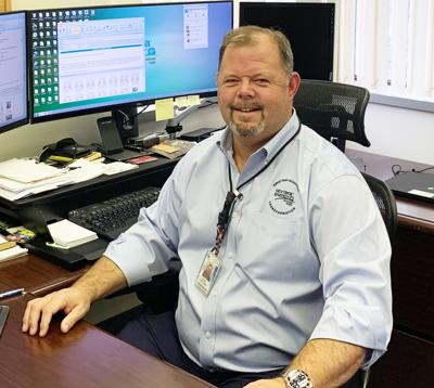 Sean Fletcher in his office at the Homestead Police Station.