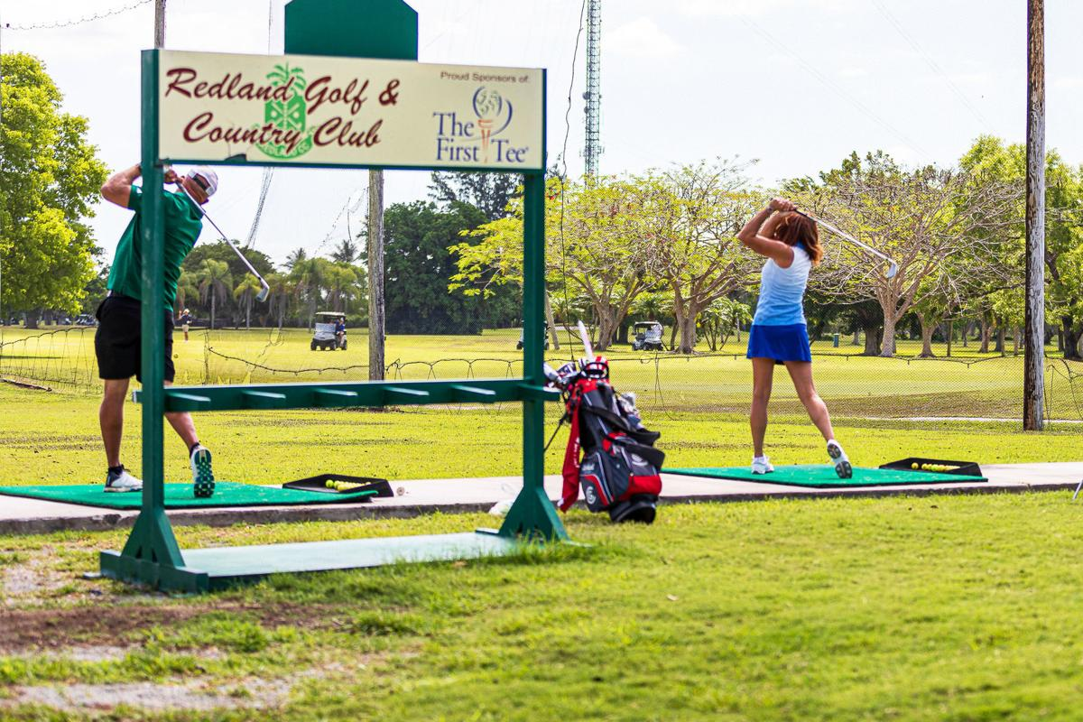 The driving range at the Redland Golf and Country Club has been reconfigured to  provide adequate social distancing space.