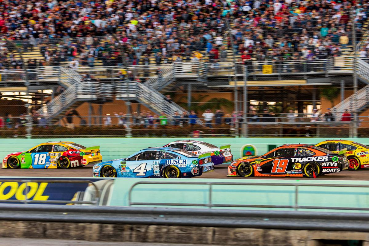 Racing at Homestead-Miami Speedway.
