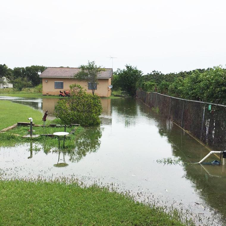 Tropical Storm Gordon brought an all too familiar problem back to Doris' neighborhood, a moat for the queen of her castle.