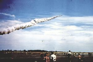 B47 JATO takes off at air show