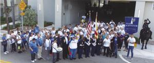 White Cane Day in Oct had Nearly 250 people escorted  by City of Miami Police and Fire Departments, walking from Miami Lighthouse around the block and back, where the celebration.