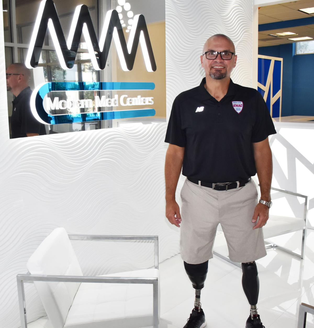 Javi Perez, pictured in his newly opened Modern Med Center in Dadeland.