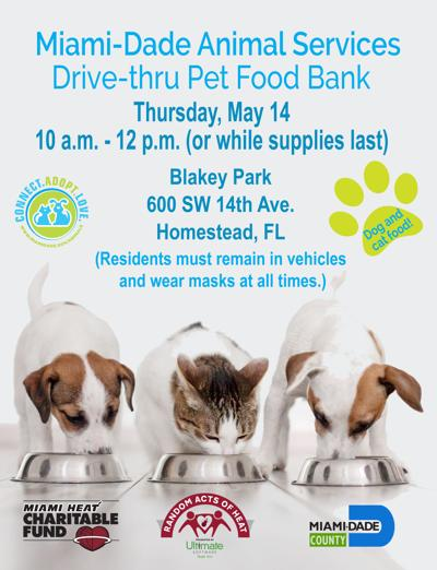 Miami-Dade Animal Services Drive-thru Pet Food Bank