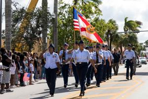 Female ROTC at the Homestead Veterans Day Parade
