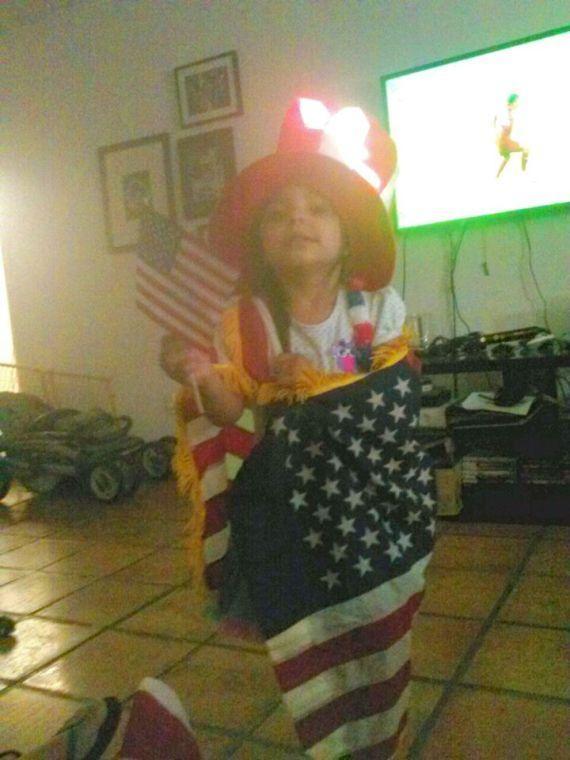 Sophia Cheers On USA