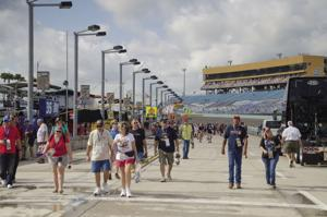 Fans get close to the action at the Nascar Championship.