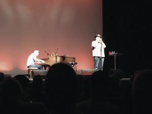 Jon Popper on blues harp with Ben Wilson on the baby grand.