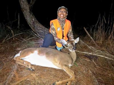 Rianna Barbary's first deer meant enjoying healthy,  organic, delicious protein, one of the reasons she wanted to try hunting. FWC