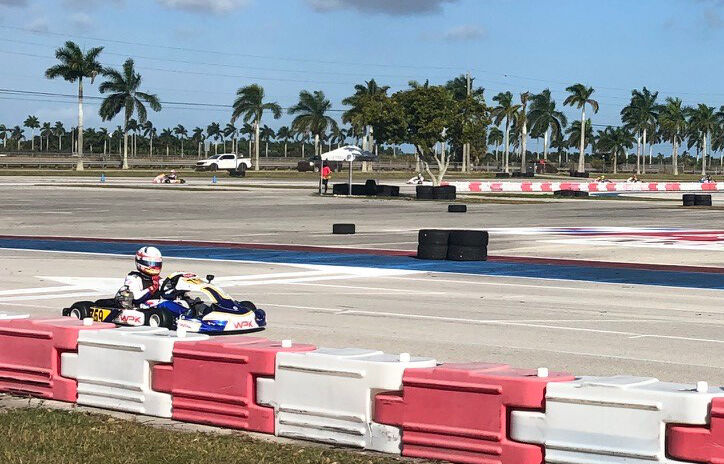 South Florida native Max Garcia, 11, in the #759 car, took second place in the IAME junior series.