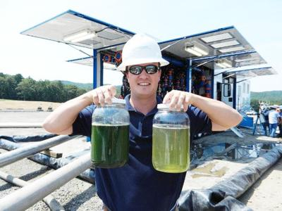 Ecosphere Technologies uses a new  technique with ozone to remove  contaminants from fracking water.
