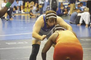 South Dade's Kenneth Crouse, wrestling at 220 lbs.