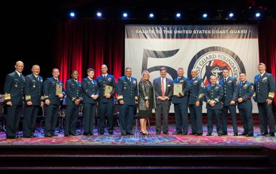 USCG Cutter Munro crew honored at the Coast Guard Foundation's 39th annual Salute to the United States Coast Guard, New York City, October 3, 2019.