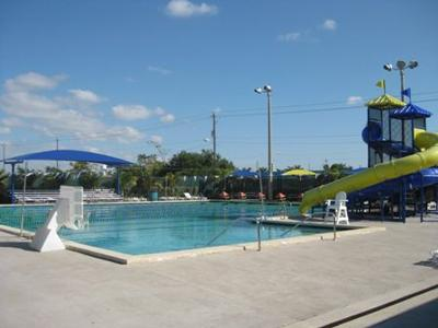 The City of Homestead's Roby George Park Pool is open, with limitations for social distancing.