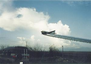 Air support after the hurricane, trying to control mosquitos.