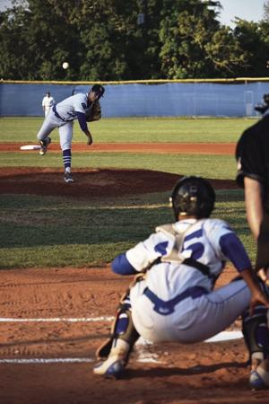 Yamil Chavarria on the mound, and Daniel Lavoy behind the plate