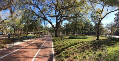 The University of Florida's campus sits quiet.