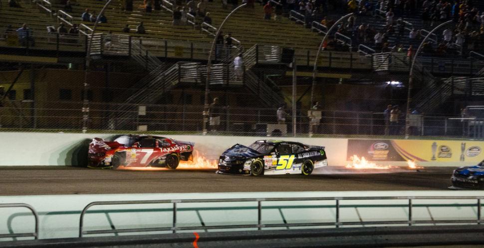 Ford 300 Firery Crash