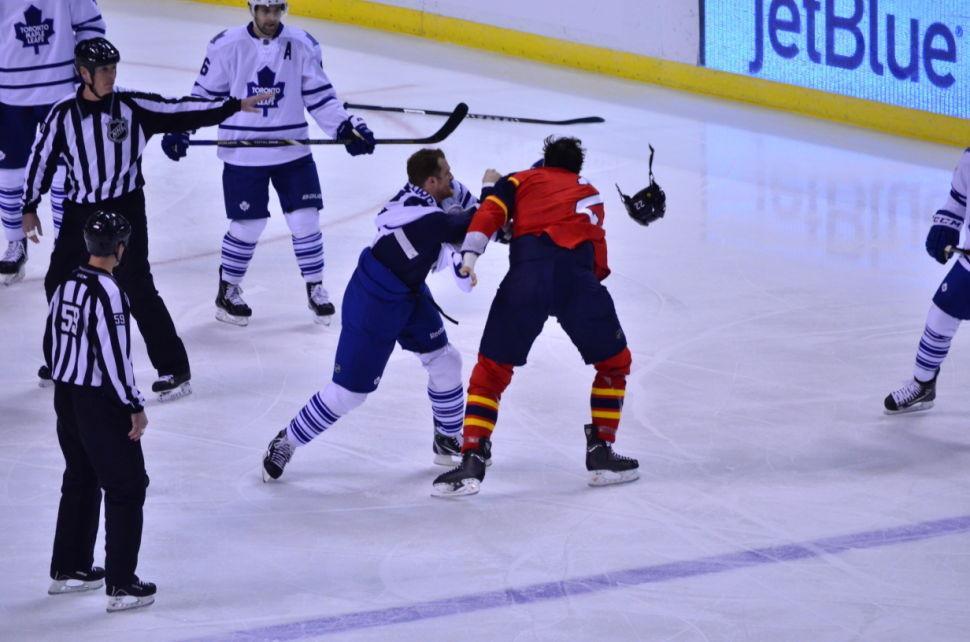 Panthers v Leafs Parros & Orr
