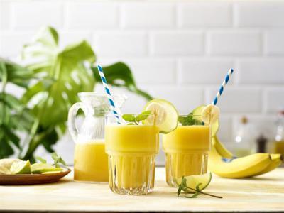Tropical Chiquita Banana Colada Shake with Coconut Water