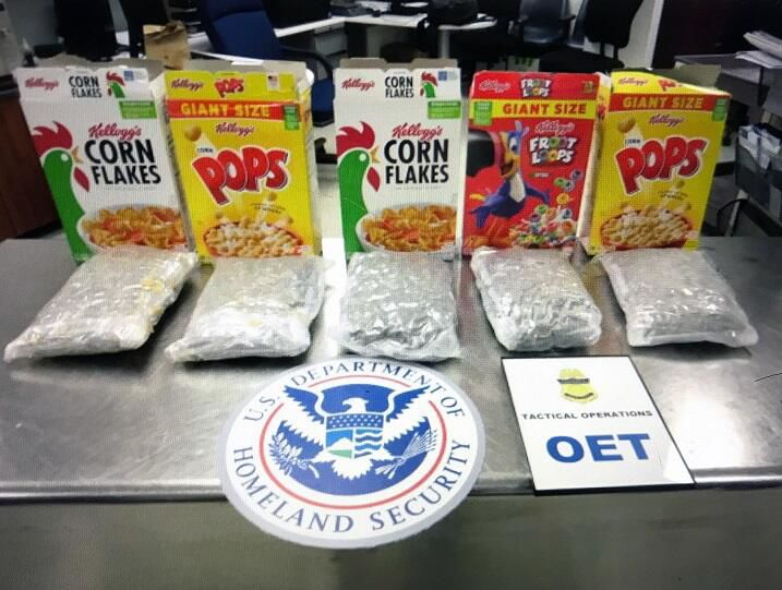 CBP Officers in Miami seized over 32 lbs of dope