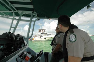 FWC patrolling on the water