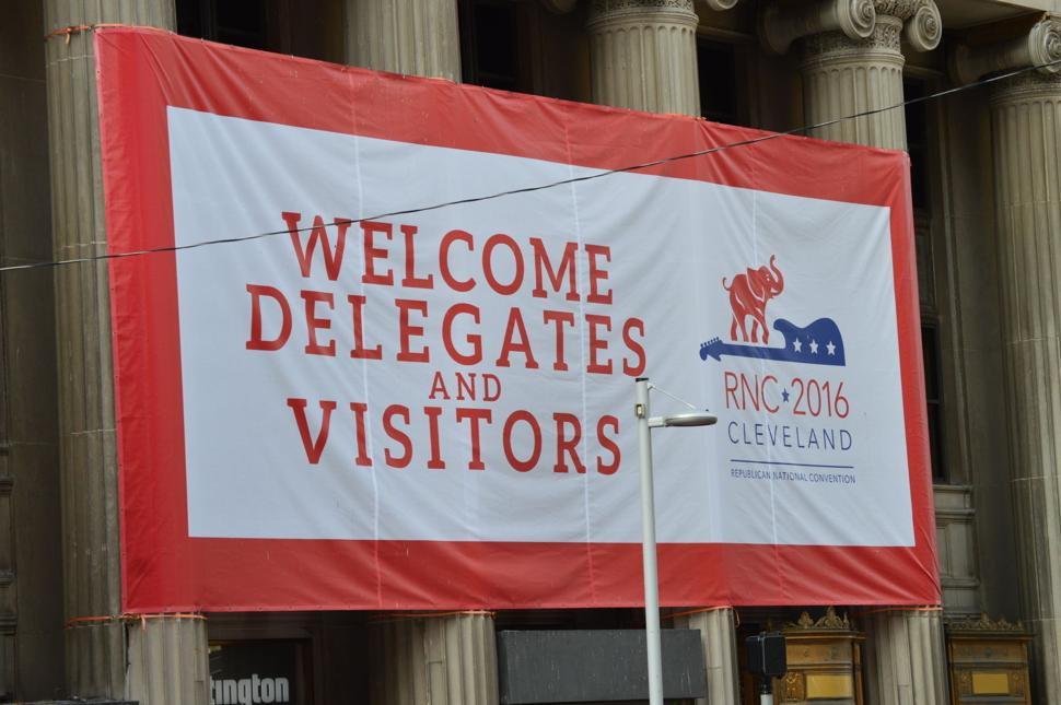 RNC Convention in Cleveland - Welcome Sign
