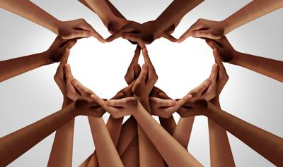 Diversity,Love,And,Unity,Partnership,As,Heart,Hands,In,Groups