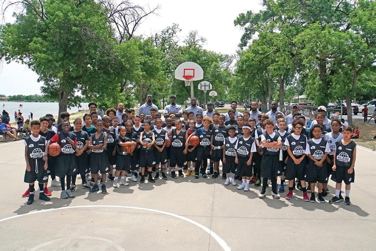 About 60 boys in fourth through sixth grades register each summer for the Hillside Connection summer basketball tournament. The children not only learn skills on the court, but life lessons such as teamwork, commitment and service to community.