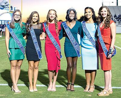 2020 EHS Homecoming Queen and court
